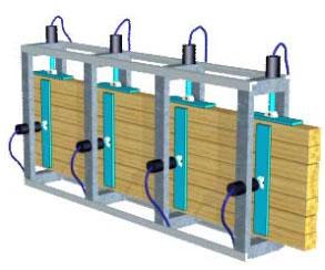 Гидравлические прессы для бруса SL250-3G, SL250-6G, SL250-9G, SL250-12G, схема обработки