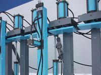 Гидравлические прессы для бруса SL250-3G, SL250-6G, SL250-9G, SL250-12G, наличие автоматизированного подьема опускания захвата и удержания фрогтальных прижимов