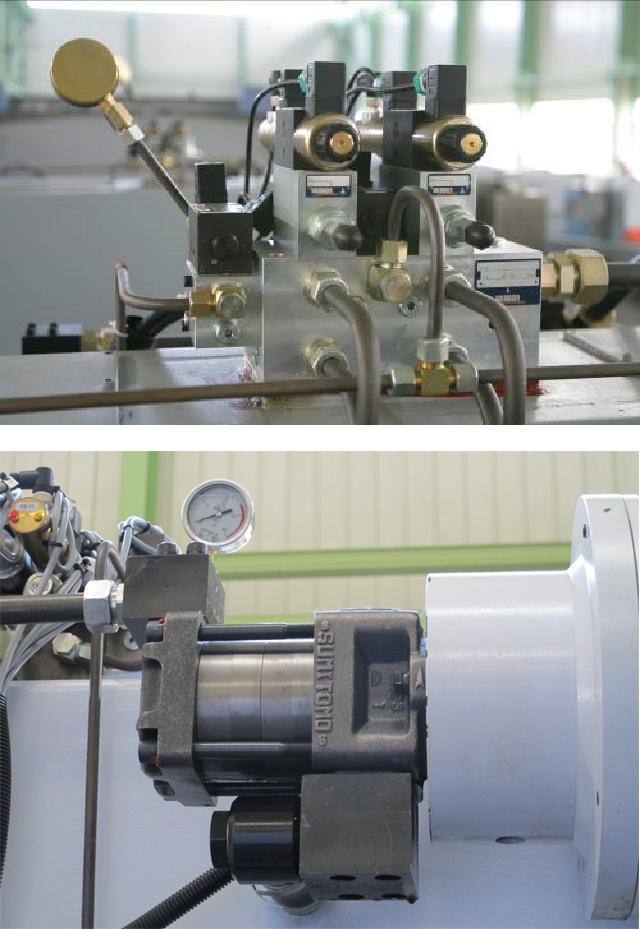 Гидравлические листогибочные пресса SMD. Серия WEH, гидравлическая система rexroth (германия) включая блок клапанов давления, блок клапанов подачи, малошумный масляной насос