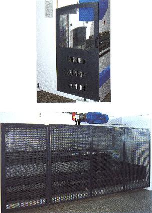 Гидравлические листогибочные пресса SMD. Серия WEH, Боковое защитное ограждение с двух сторон и заднее защитное ограждение
