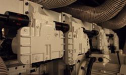 Четырехсторонний станок Beaver 620, редукторная система привода подающих