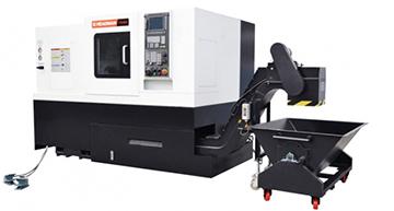 Высокоточный токарный обрабатывающие центр с ЧПУ (Siemens) с наклонной станиной Headman T55-500
