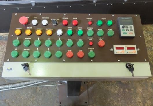 Пульт управления брусовального двухвального станок с гусеничной подачей мод. «KRAFTER»