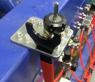 Фрезерно-гравировальный станок с числовым программным управлением Beaver 25 AVLT8, Кронштейн для фиксации инструментального патрона ISO30