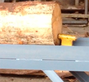 Система подачи  бревнопильного станка для распиловки бревен СПР-320К-М