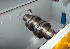 Вал увеличенного сечения бревнопильного станка для распиловки бревен СПР-320К-М