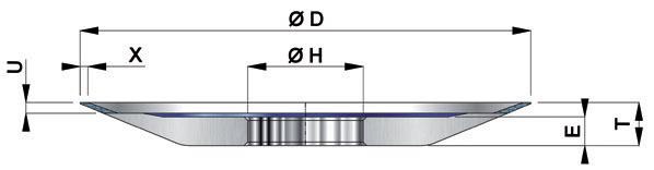 Круги алмазные тарельчатые 12V2