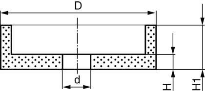 Круги керамические чашечные LUGA ABRASIV