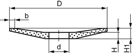 Круги керамические тарельчатые LUGA ABRASIV