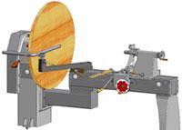 Токарный станок с копиром CL-1201, возможнлость обрабатывать заготовки диаметром 1200 мм