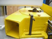Фрезерный станок с шипорезной кареткой ФСШ-1А (К), защитный кожух ножевого вала