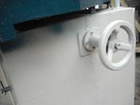 Фрезерный станок с шипорезной кареткой ФСШ-1А (К), подьем опускание ножевого вала при помощи маховика