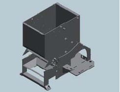 Шредер для измельчения древесных отходов LR700 (Австрия), корпус станка