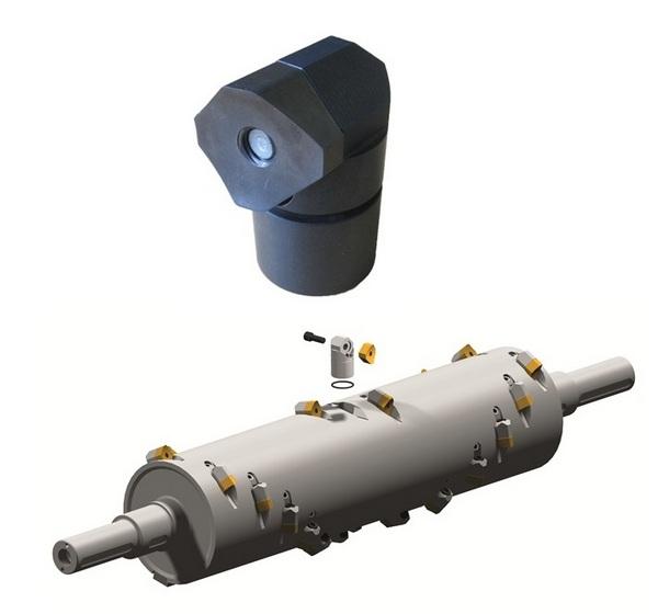 Шредер для измельчения отходов LR1400 (Австрия), реверсивные режущие пластины, реверсивный держатель режущих пластин