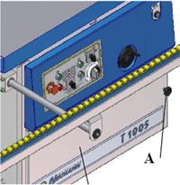Фрезерный станок с шипорезной кареткой Т1005 TR-PL, выдвижная планка с роликами