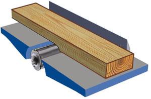 Фуговальный станок DMA 41 , схема обработки