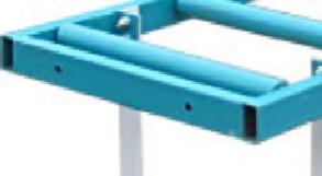 стыковочные отверстия и крепежные болты роликового стола мод. РН 2-500 С