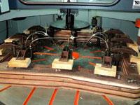Копировально-фрезерный QUADRO LH-60-4PS, LH-80-4PS, LH-100-4PS, LH-120-4PS - Редактирование, при обработке ножек стульев шаблоны  расставляются по краю круглого стола