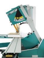 Ленточнопильный станок с кареткой GRIGGIO «SWING 640», механический индикатор наклона пильного узла