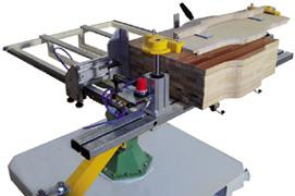 Ленточнопильные станки для криволинейного пиления SN33 и SN44, устройство для крепления пакета заготовок