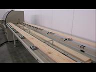 Высокоскоростная торцовочная линия TRV1200S, 1200E, Приводной подающий роликовый стол