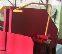 Торцовочный станок для бревен ТСБ-350, рычаг перемещения пильного суппорта