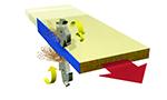 Станок для снятия свесов Filato FL - 92/2, схема обработки