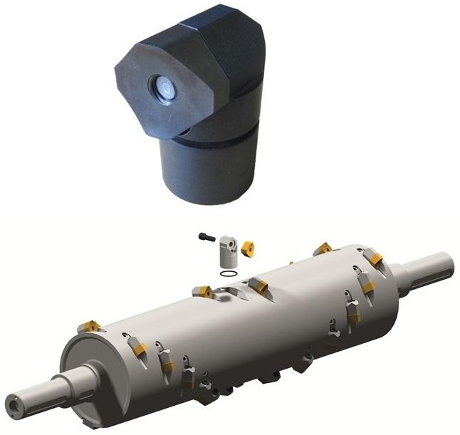 Шредер для измельчения древесных отходов LR520 (Австрия), реверсивные режущие пластины, реверсивный держатель режущих пластин