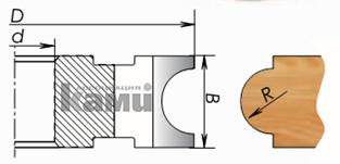 Фрезы цельнозатылованные для изготовления штапов (черенков) Мотор