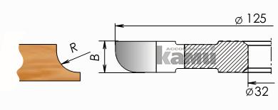 Фрезы с твердосплавными напайками для изготовления полугалтелей Мотор