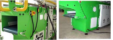 станок древесно-стружечный мод. yt-145, встроенный в станок конвейер для отвода стружки из зоны измельчения