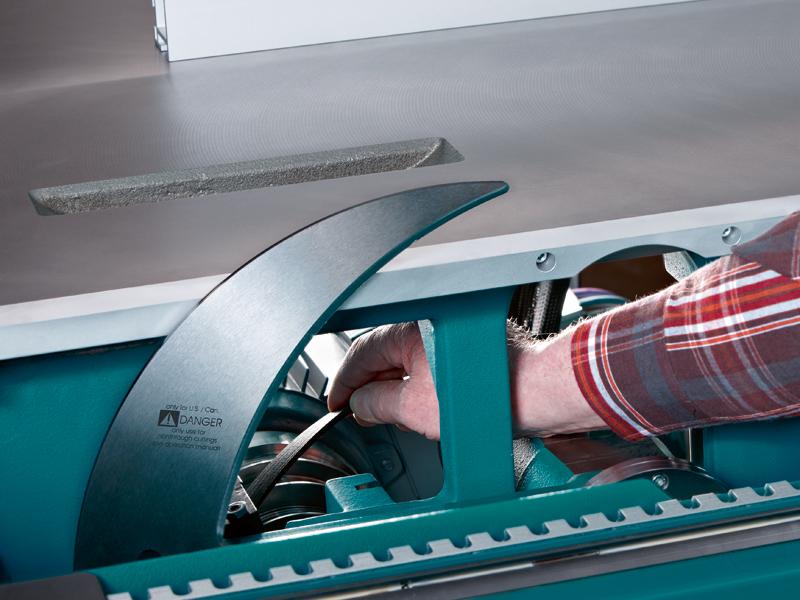 Форматно-раскроечный станок мод. «MARTIN T-70», Германия, Простое изменение скорости вращения основной пилы