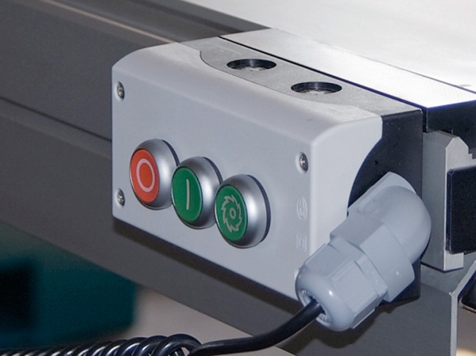 Форматно-раскроечный станок «MARTIN Т75 PreX», Кнопки включения/выключения на каретке