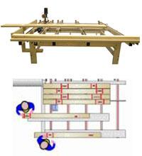 Линия оптимизации TRV 2700EB 500 Италия, Разметочный стол. Загрузочный коонвейер