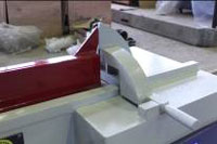 Пресс для сращивания по длине (ручной) PSK 3100, 4500, 6000, ограждение пилы с жестким упором
