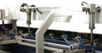 Пресс для сращивания по длине (автомат) PSK 3100A, 4500A, 6000A, 9000A, 12000A, схема обработки, боковой ограничитель плети в зоне набора