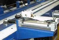 Пресс для сращивания по длине (автомат) PSK 3100A, 4500A, 6000A, 9000A, 12000A, схема обработки, сталкиватель плети в зону прессования