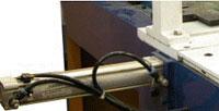 Пресс для сращивания по длине (автомат) PSK 3100A, 4500A, 6000A, 9000A, 12000A, схема обработки, дополнительный пневмоцилиндр прижима коротких ламелей в зоне прессования