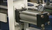 Пресс для сращивания по длине (автомат) PSK 3100A, 4500A, 6000A, 9000A, 12000A, схема обработки, мощный гидроцилидр прессования