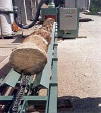 Брусовальный станок BHS 37-2 / 55-2, подающий цепной транспортер
