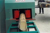 Брусовальный станок BHS 37-2 / 55-2, устройство удержания бруса